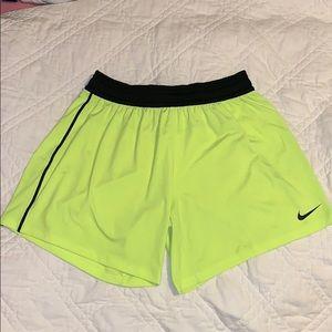 Nike Neon yellow dri-fit shorts!!